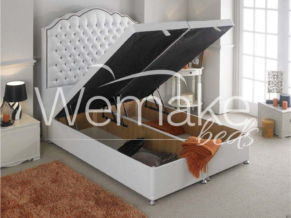 New Princess Solid Base Ottoman Storage Bed Wemakebeds