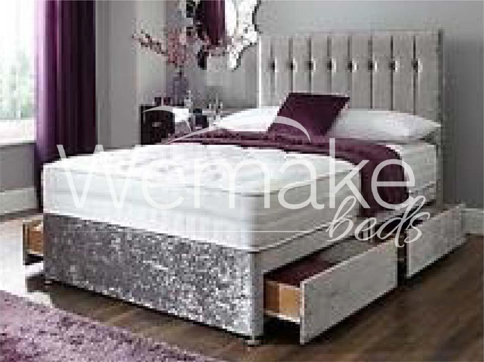 Venice 4 Drawers With Headboard Divan Bed Wemakebeds